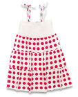 Girls Gatti Pink Polka Spot Strappy Cotton Dress 8 to 16 Years CLEARANCE SALE