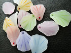 20x25mm 20/60/120pcs ASSORTED COLORS ACRYLIC FROSTED FLOWER BEADS CC5368