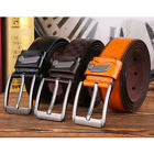 Men High Quality Waist Belt PU Leather Pin Buckle Business Casual Work Strap Man