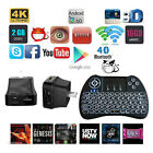 T95P 8GB Quad Core Fully Loaded Android TV Box Set Power Plug+Backlit Keyboard