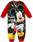 Boys Official Disney Mickey Mouse Fleece Zip Sleepsuit 18 Months to 5 Years