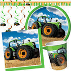 TRACTOR TIME Birthday Party Range - Farm Animal Tableware Balloons & Decorations
