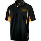 Hammer Men's Reaper Performance Polo Bowling Shirt Black Gold Dri-Fit Comfort
