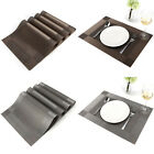 4x Placemat PVC Dining Table Kitchen Mats Coasters Set Gift