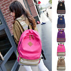 Korean Design Nation Taste Women Men Double-shoulder Canvas Backpack 5 Colors