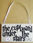 HANDMADE PLAQUE SIGN PAINTED HARRY POTTER WIZARD THE CUPBOARD UNDER THE STAIRS