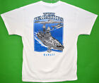 WWII Warships T-Shirt vintage RJC Screen printed in Hawaii