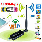 1200Mbps Dual Band 2.4GHz 5GHz Wireless USB 3.0 WiFi Adapter 802.11AC w/Antenna