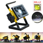 Portable 50W 36 LED Rechargeable Floodlight Camping Fishing Lamp+18650+Charger