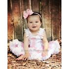 Baby Polka Dots 1st-3rd Cupcake Top Pink White Pettiskirt Birthday Party Dress