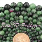 "Natural Zoisite Round Multicolor Gemstone Beads Strand 15"" For Jewelry Making"