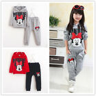 Outfits ! Kids Baby Girls Casual Clothes Minnie Shirt Top / Pants Sport Sets