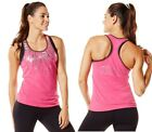 Zumba ~ Frill Me Bubble Racerback Tank Top - All sizes available! - Fuchsia Pink