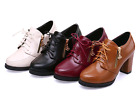 New Women's Platform Mary Janes Lace Up Dress Block Chunky Heels Shoes Size