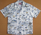 Paradise Islands Maps Men's vintage RJC aloha Shirt made in Hawaii