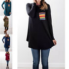 Fashion Women Long Sleeve Shirt Casual Pulover Blouse Loose Cotton Tops T-shirt