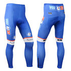 New Men's Cycling Long Pants Tights Padded Bicycle Trousers Blue Size S-3XL