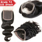 Pre Plucked 7A 100% Virgin Human Hair Frontal Lace Closure 360 One Bundle US