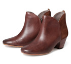 H by Hudson Tan Chime Leather Zip Pull On Heeled Ankle Shoe Boots 7 40 US 9