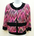 Covington Printed Shrug Layer Jacket Women's Size 6