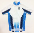 """SECONDS"" Polyester CYCLING JERSEY White/Blue - Made in Italy by Santini"
