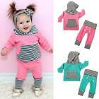 2PCS Kid Baby Boys & Girl Warm Tops Sweatshirt Pants Outfit Clothing Set Clothes
