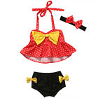 Kid Baby Girls Tankini Bikini Set Swimwear Swimsuit Bathing Suit Beachwear 0-4Y