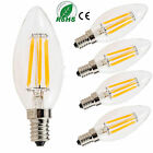 Retro Dimmable E12 E14 LED Bulb 2W 4W 6W Edison COB Candle Light Lamp 110V 220V