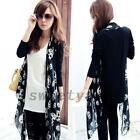 Gothic Punk Skull Head Women's Cardigan Wrap Top Shirt Blouse Halloween Party