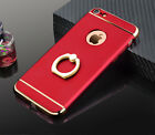 iPone Case Cover Ultra Thin Shockproof Matte Hard PC 360°Rotate Ring Stand Shell