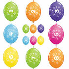 """10 x 12"""" Quick Link Number/Age Qualatex Latex Birthday Balloons Linking Garland"""