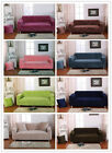 2017 New 8 Solid Pure Colour Lounge Couch Stretch Sofa Cover 1-2-3-4 Seater