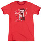 Betty Boop Lover Girl Mens Adult Heather Ringer Shirt Red $26.94 USD