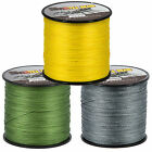 300/500/1000M Dyneema 100% PE Spectra Braided Fishing Sea Line Green Yellow Gray