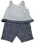 Girls Baby Ditsy Daisy Print Lace Trim Vest Top & Shorts Set 3 to 18 Months