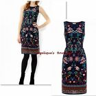 MONSOON CLAUDIA NAVY BLUE MULTI INDIAN INSPIRED FLORAL TEA DRESS SZ 12 & 14 NEW