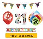 AGE 21 - Happy 21st Birthday Party Balloons, Banners & Decorations