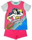 Girls DC Comics Wonder Woman T-Shirt Shorty Cotton Pyjamas 3 to 10 Years