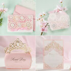Pink Theme Crown Laser Cut Wedding Favour Bags Boxes Invitations Cards Envelopes