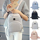 Women Girl Rock Pattern Tassel PU Leather Medium Backpack Crossbody Handbag