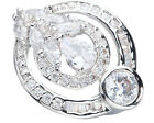 Magnificent White Stone 6*6mm GemStones Silver Cool For Women Ring Q1577