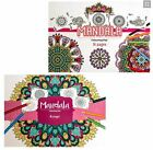 Large Mandala Design Colouring Book Pad Adult Anti Stress Relief Relax Therapy