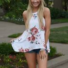 New Women Loose Sleeveless Tops Floral Printed Vest  Sleeveless T-shirt Blouses