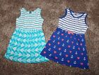 7 Gymboree HOP 'N' ROLL Lot of Knit Dresses: Anchor Hearts and Angelfish
