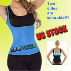 Blue Slimming Neoprene Vest Hot Sweat Shirt Body Shapers for Weight Loss Womens
