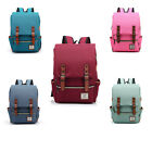 Women Men Canvas Zipper Closure Hiking Traveling Backpack School Laptop Rucksack