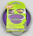Summit Collapsible Bowl Dish Folding Pop-Up Medium 20cm Purple Camping NEW