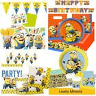 LOVELY MINIONS Birthday Party Range DESPICABLE ME Tableware Supplies Decorations