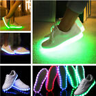 Women Mens Colorful Glowing LED Light Luminous Shoes Lace Up Sportswear Sneaker