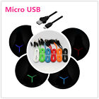 1M Flat Noodle LED USB Sync Data Charger Charging Cable Cord For Android Phone